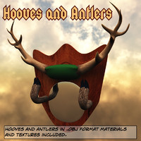 obj hooves antlers