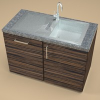 3ds max stainless steel kitchen sink