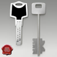 3d keys set modelled