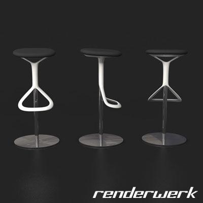 C4d red dot design for Barhocker 3ds