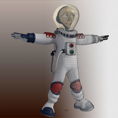 3ds max space man - Spaceman... by 3dmediatoonz