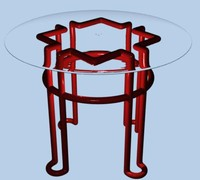 Glass Steel Table