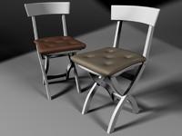 3d chair pillow model