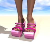 heel mule shoe 3d model