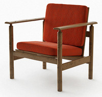 3d retro armchair model