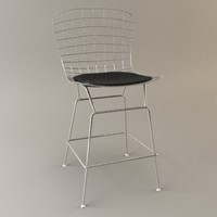 bertoia bar kitchen stool 3d max