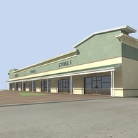 3ds max small retail building