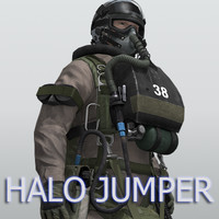 US Navy SEAL HALO (High Altitude-Low Opening) Jumper