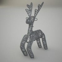 decorative deer figure 3d max