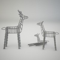3ds max group deer figures
