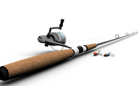 3d model fishing pole