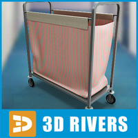 laundry cart 3d 3ds