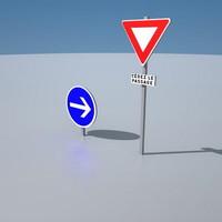 panneaux rond point 3dsmax