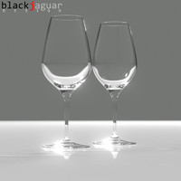 free red white wine glass 3d model