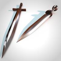 sword claymore gladius obj
