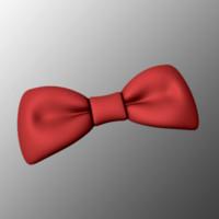 3d obj bow tie