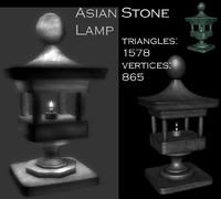 3d asian stone model