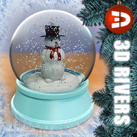 Snowman snow globe by 3DRivers