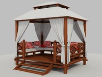 3d summer pavilion