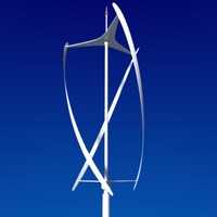 vertical axis wind turbine 3d model