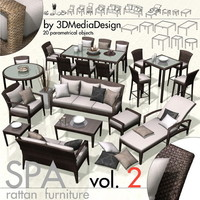 3DMD SPA2 - Rattan Exterior Furniture Library