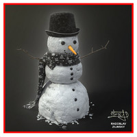 SNOWMAN  01 (HIGH detail and realism)