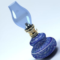 3d old lamp oil