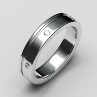White gold wedding band-7