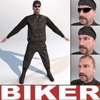 3d biker games modelled
