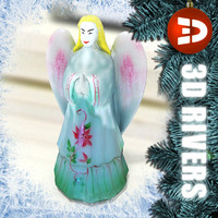 angel christmas decoration 3d 3ds