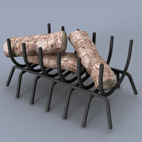 fireplace grate 3d 3ds