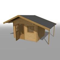 3d model wooden garden house