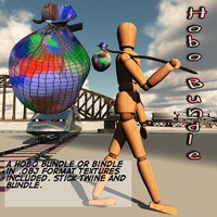 hobo bindle 3d model
