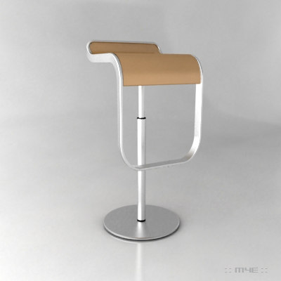 3d Contemporary Kitchen Bar Stool Model