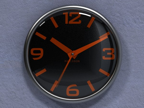 3d wall clock karlsson realistically model - KARLSSON 100% REALISTICALLY ANIMATED WALL CLOCK (1ST MODEL... by VouVou