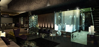 Penthouse, night shot, jelly fish, modern apartment - Interior