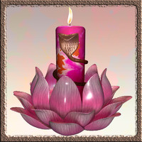 3ds max candle stand flower