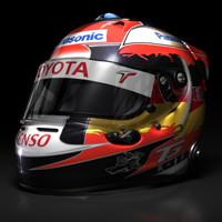 timo glock helmet 2009 3d model
