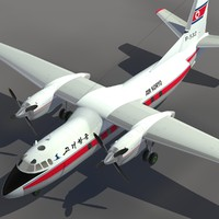 3ds max aircraft an-24 transport air