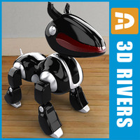 toy robot aibo ps 3d max