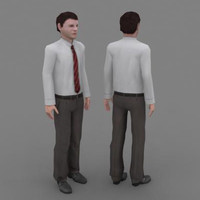 3d model business man