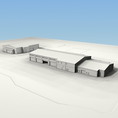 military building 3d model - military buildings... by morihuela