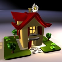3d cartoon house