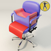 3d salon kids chair hair