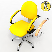 chair hair 3d model