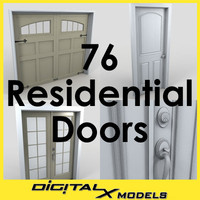 3d model doors residential