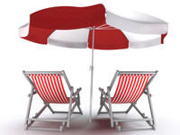 3d model of deck chairs