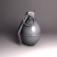 3d grenade military soldier model