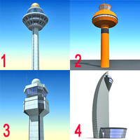 4 control towers 3ds