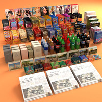 3d model merchandise items